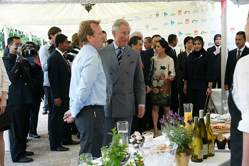 A pop up for HRH The Prince of Wales